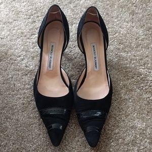 Rare size 41(US 11) Manolo Blahnik Kitten Heels